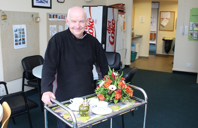 Long time Mary Potter Hospice volunteer, Mike O'Sullivan